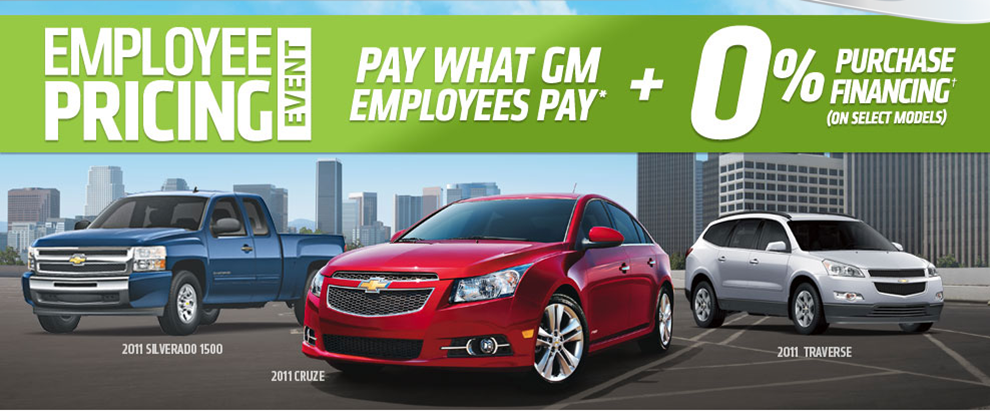 Gm Employee Pricing Is Back And Ulmer Chevrolet Has The Best